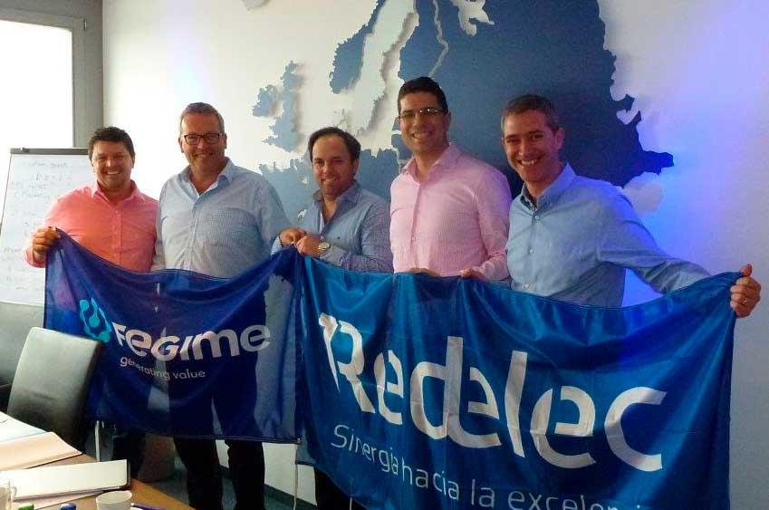 Acuerdo de cooperación entre el Grupo Redelec Argentina y Fegime