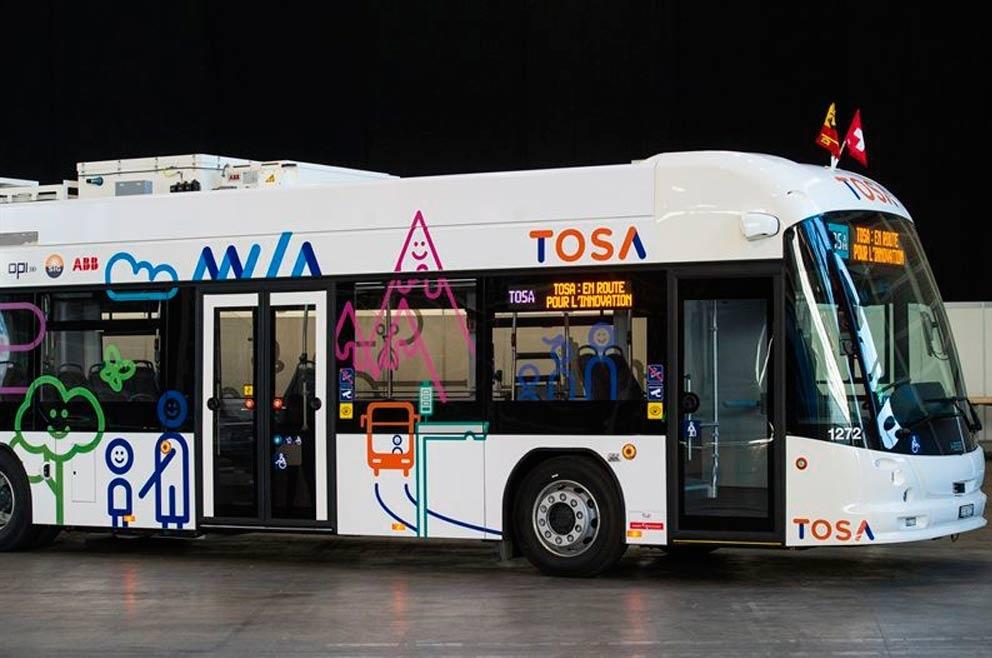 ABB logra cargar un autobús eléctrico en 20 segundos